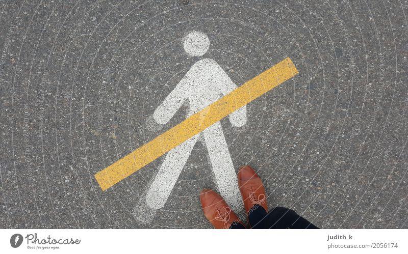 no humans please ... wandern Joggen Kindererziehung Tanzschule Verkehr Verkehrswege Personenverkehr Fußgänger Straße Wege & Pfade Verkehrszeichen Verkehrsschild