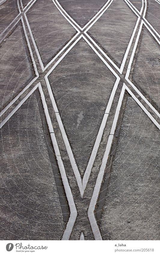 never forget auckland Ferien & Urlaub & Reisen grau Wege & Pfade Linie Beton Netzwerk Platz Streifen fest Gleise Stahl Mobilität Verkehrswege Fernweh Straßenkreuzung gerade