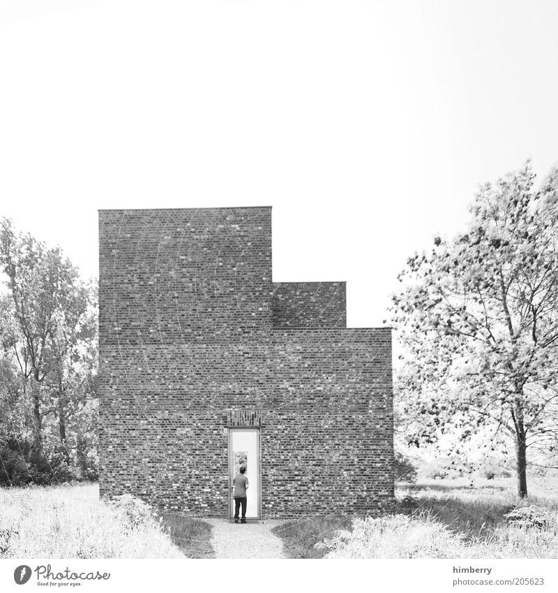 stage 3 Mensch weiß Leben Wand Architektur Mauer Gebäude Kunst Fassade Design Kultur einzigartig geheimnisvoll Bauwerk Backstein