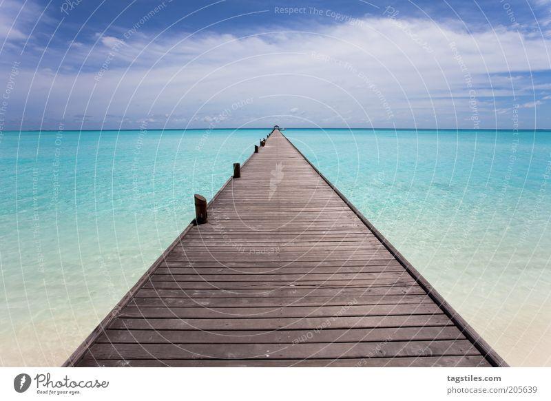 * TRÄUM WEITER * Steg Malediven Karibisches Meer Grosse Antillen Kuba Kleine Antillen Yucatan Ferien & Urlaub & Reisen Reisefotografie Fluchtpunkt Holz Paneele