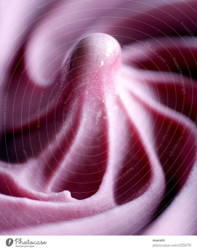 erste Sahne Lebensmittel Dessert Speiseeis Süßwaren Ernährung süß rosa lecker Appetit & Hunger Eis cremig Sorbet Eiszeit Strukturen & Formen wellig glänzend
