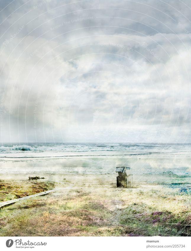 Amrum Natur Wasser Himmel Sonne Meer Sommer Strand Ferien & Urlaub & Reisen Wolken Einsamkeit Ferne Landschaft Wellen Küste Wetter Tourismus