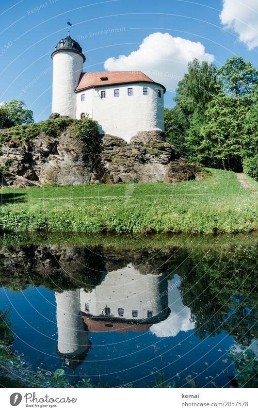 AST 10 | Wasserschloss Himmel Natur blau Sommer schön grün Landschaft Wolken ruhig Gebäude außergewöhnlich Ausflug Schönes Wetter groß Warmherzigkeit
