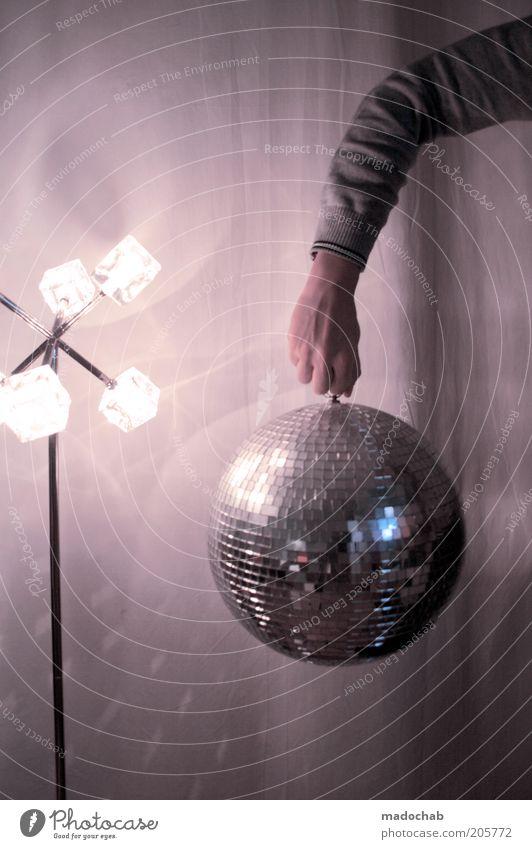 DiskoTorrero Hand Leben Stil Feste & Feiern Lampe Party rosa Freizeit & Hobby Musik glänzend elegant Lifestyle Arme Design ästhetisch Coolness