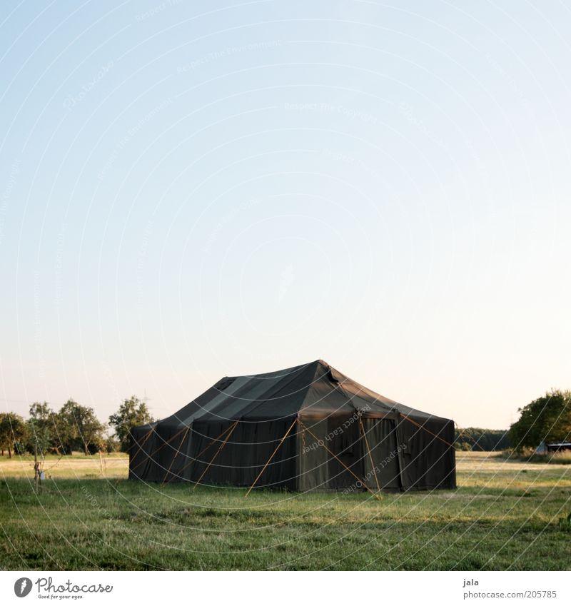 Gruppenkuscheln in trauter Gemütlichkeit Ferien & Urlaub & Reisen Ausflug Camping Sommer Himmel Pflanze Baum Wiese Zelt Zeltlager Erholung Häusliches Leben groß
