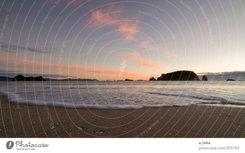 tomorrow morning Natur schön Himmel Meer rot Strand Ferien & Urlaub & Reisen Wolken Einsamkeit Ferne Bewegung träumen Sand Landschaft Wellen nass