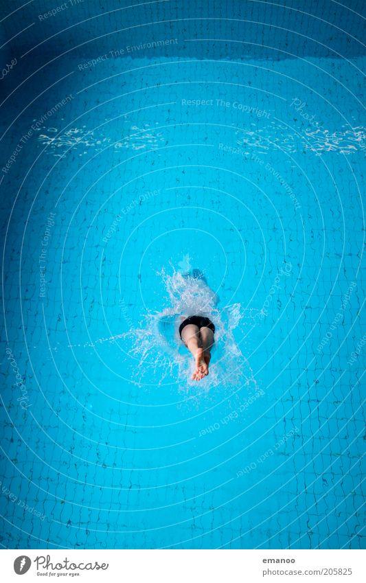 header Mensch Jugendliche Wasser blau Freude kalt Sport Bewegung springen Zufriedenheit Kraft Schwimmen & Baden maskulin Lifestyle Schwimmbad tauchen