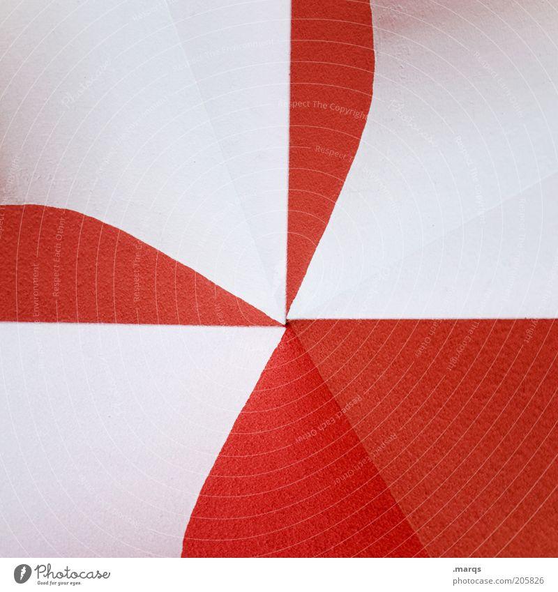 Itsu weiß rot Wand Architektur Mauer Hintergrundbild Design außergewöhnlich Grafik u. Illustration Doppelbelichtung Textfreiraum Mittelpunkt Wandmalereien abstrakt rot-weiß zweifarbig