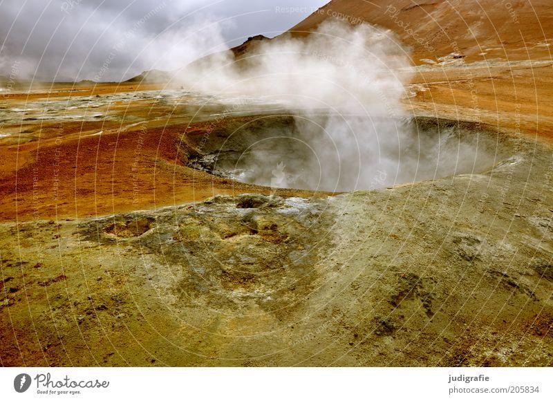 Island Natur Wärme Landschaft Erde Umwelt einzigartig heiß natürlich außergewöhnlich Hügel Urelemente bizarr Wasserdampf Vulkan