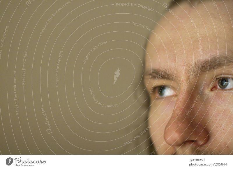 Zurückblicken...auf 1.Jahr Photocase Mann Erwachsene Gesicht Auge Kopf Denken träumen maskulin Nase wild authentisch weich nachdenklich 18-30 Jahre Junger Mann