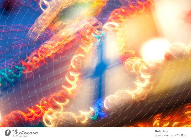 Tanz der Glühbirnen Party Energiewirtschaft Geschwindigkeit blau rot Stimmung Bewegung Verzerrung leuchten Lichtspiel lichtvoll Leuchtspur Lichtbahn Lichtfleck