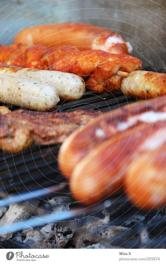 Käsebockwurst, Schweineschnitzel, Nürnberger, Hähnchenspieß... Ernährung Lebensmittel Freizeit & Hobby heiß lecker Grillen Fett Fleisch Abendessen Bioprodukte