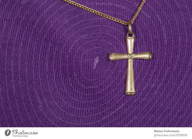 """eine Kette mit einem christlichen Kreuz Lifestyle Ostern Weihnachten & Advent Kirchentag Schüler Lehrer """"Schmuck Halskette Kreuz"""" Glaube Religion & Glaube"""