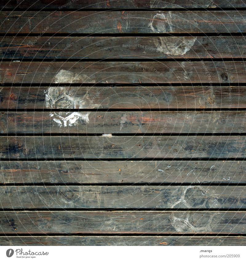Kick-Off Freizeit & Hobby Spielen Kinderspiel Ball Holz dreckig braun Abdruck Farbfoto Nahaufnahme Strukturen & Formen Menschenleer Außenaufnahme