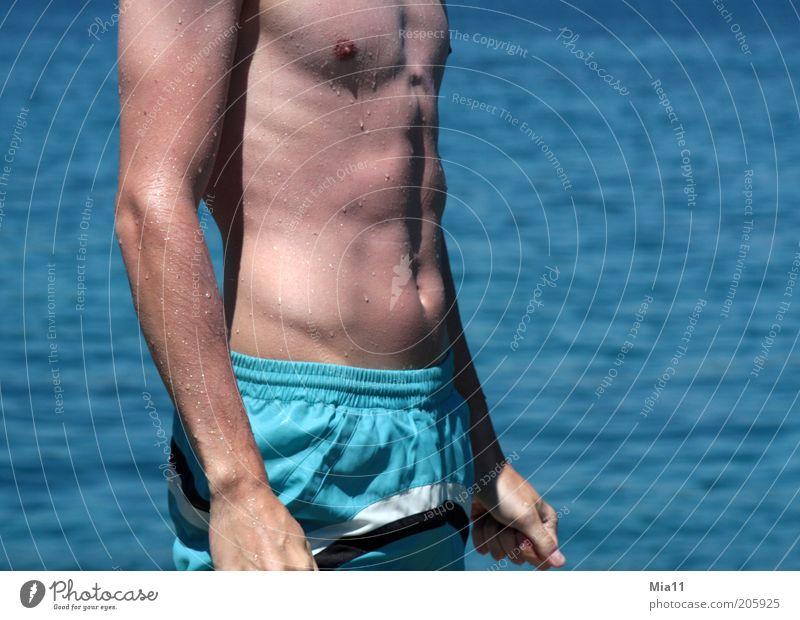 Mein Traummann 2 Mensch Mann Jugendliche Wasser Meer blau Sommer Erotik Gesundheit Körper Erwachsene maskulin ästhetisch dünn