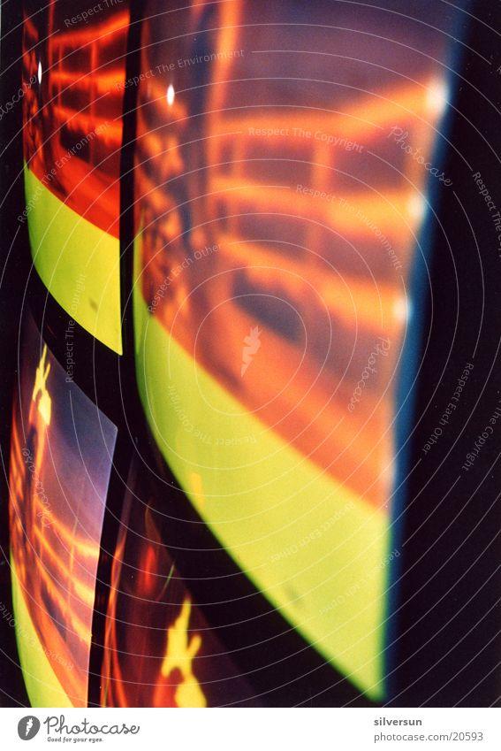 Bildschirme gelb Fernsehen Information 4 Streifen Bildschirm konkav