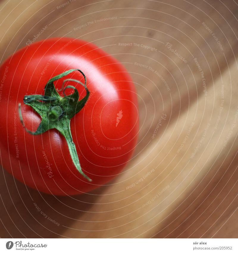 glatte Haut grün rot Gesunde Ernährung natürlich Holz braun frisch rund Gemüse lecker Bioprodukte Stillleben Vegetarische Ernährung Glätte Tomate