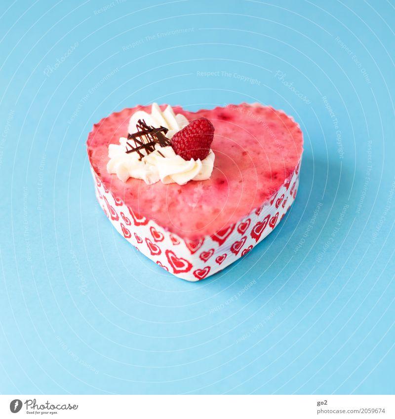 Süßes Geschenk blau rot Essen Liebe Glück Lebensmittel Feste & Feiern Freundschaft Ernährung Geburtstag genießen Herz Lebensfreude Romantik Hochzeit