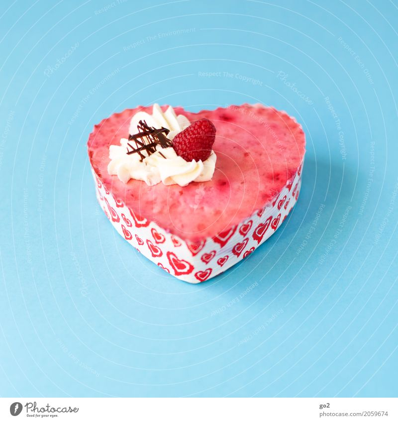 Süßes Geschenk Lebensmittel Teigwaren Backwaren Süßwaren Kuchen Erdbeeren Erdbeertorte Ernährung Essen Kaffeetrinken Feste & Feiern Valentinstag Muttertag