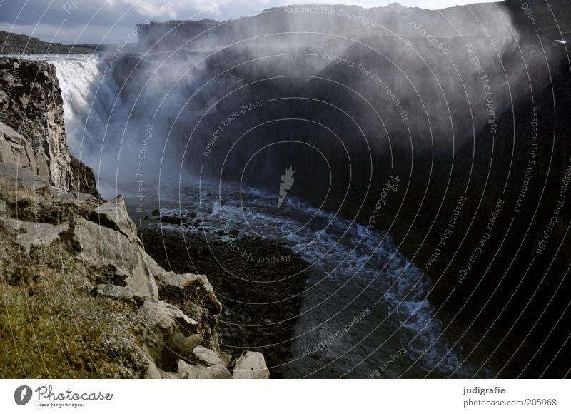 Island Umwelt Natur Landschaft Urelemente Wasser Klima Schlucht Wasserfall außergewöhnlich dunkel fantastisch frisch nass natürlich wild Stimmung Kraft