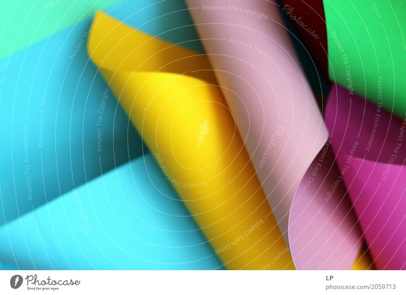 gewelltes farbiges Papier Lifestyle sprechen Innenarchitektur Hintergrundbild Spielen Business Design Zusammensein Häusliches Leben Freizeit & Hobby