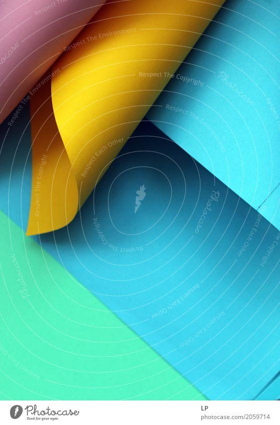 abstrakter Hintergrund mit farbigem Papier Lifestyle Häusliches Leben Dekoration & Verzierung Arbeit & Erwerbstätigkeit Büroarbeit Schreibwaren Paket Ornament