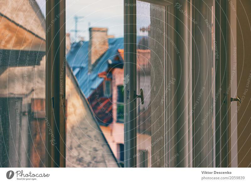 Fenster in der Altstadt Himmel Ferien & Urlaub & Reisen alt blau Sommer Stadt weiß Haus Architektur Straße Leben Gebäude Tourismus Fassade Design Wohnung