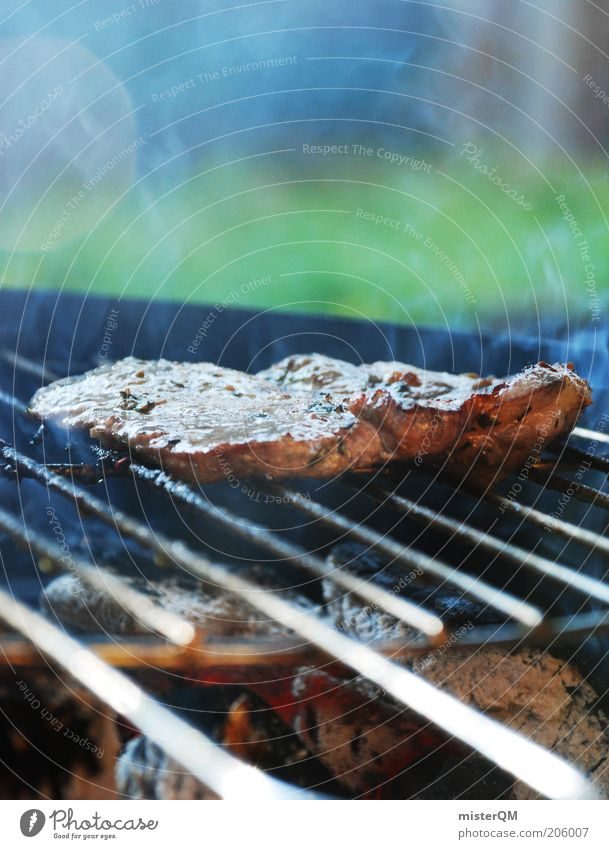 Wer kann da noch Vegetarier sein? Ernährung Abendessen Freizeit & Hobby ästhetisch Sommer Grillen Steak Fleisch Grillrost Grillsaison Fett lecker ungesund