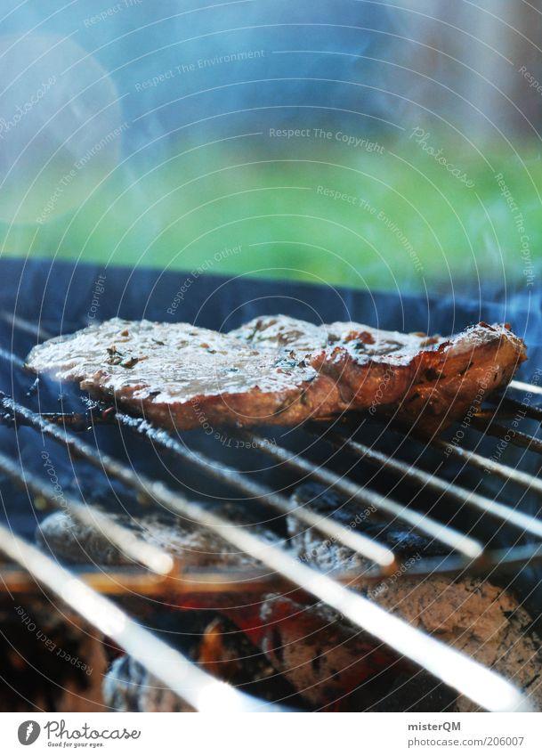 Wer kann da noch Vegetarier sein? Sommer Ernährung ästhetisch Freizeit & Hobby Rauch lecker Appetit & Hunger Duft Grillen Fett Geruch Fleisch Abendessen Grill Grillrost Wochenende