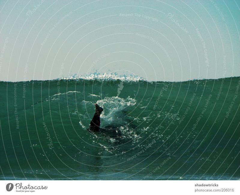 Blub Himmel blau Wasser Freude Sport Wellen Schwimmen & Baden tauchen stark exotisch Sport-Training Wasseroberfläche Sportler Wassersport toben Spielen