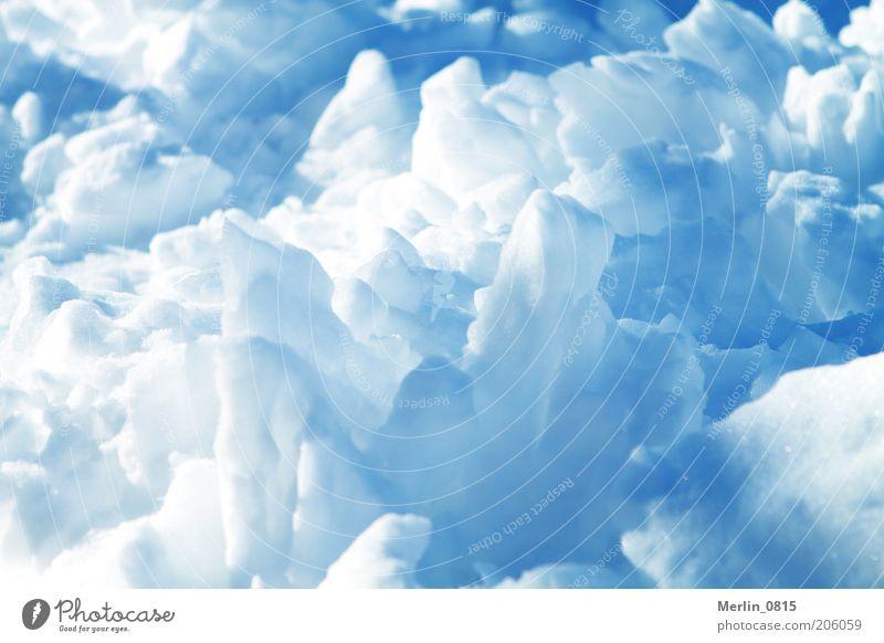 Eiszeit weiß blau Winter kalt Schnee Frost Klima gefroren Urelemente Gletscher Licht Natur