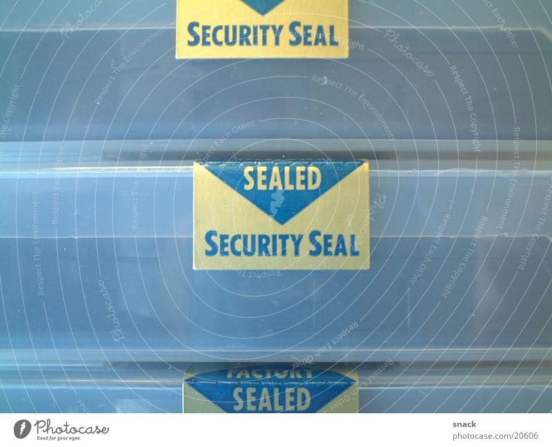 Sealed Sicherheit Schutz Etikett Musikkassette