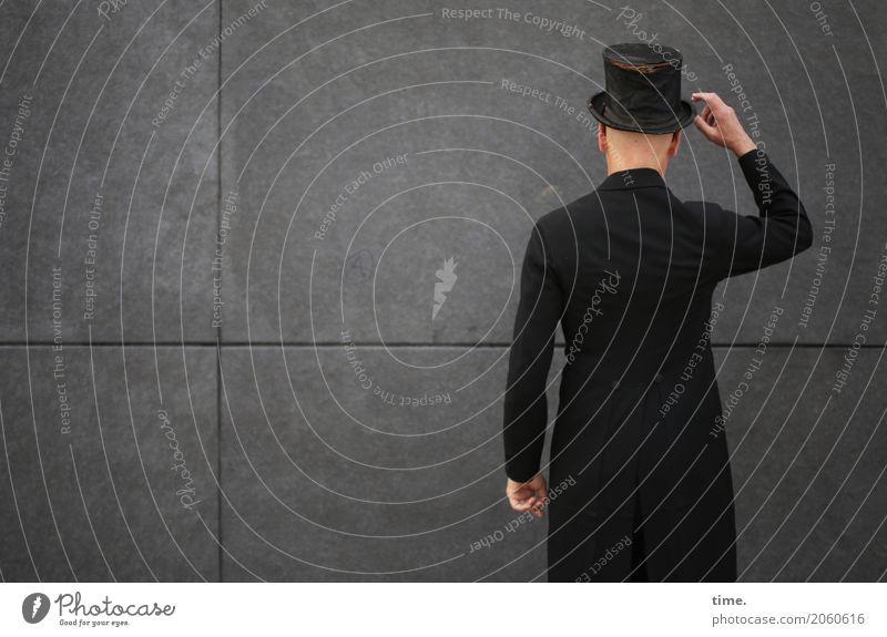 AST 10 | Generalprobe Mensch Mann Stadt ruhig Erwachsene Wand Mauer maskulin elegant ästhetisch stehen Coolness Macht Inspiration selbstbewußt Nostalgie