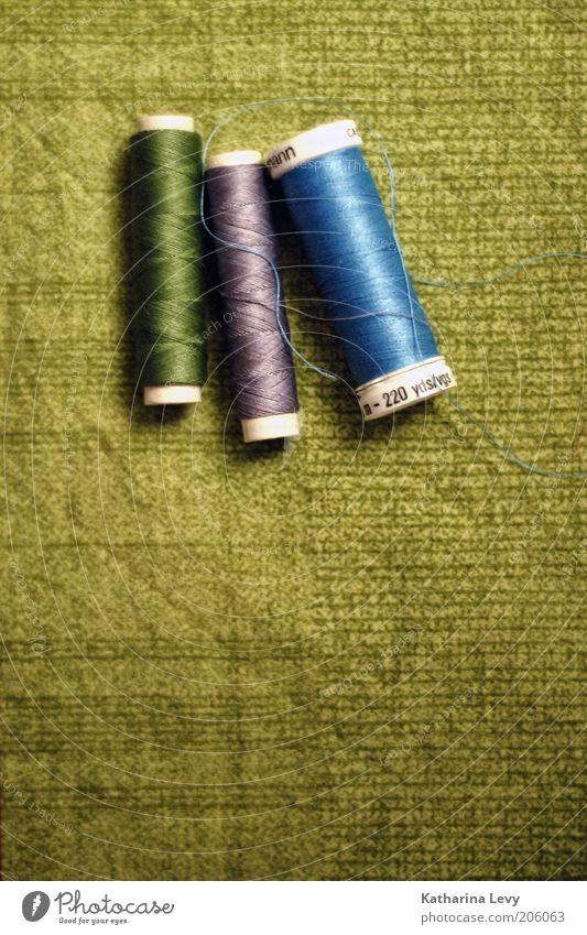 Handarbeit grün blau authentisch violett Stoff Rolle Nähgarn Nähen Freizeit & Hobby Handarbeit aufgewickelt Flickzeug