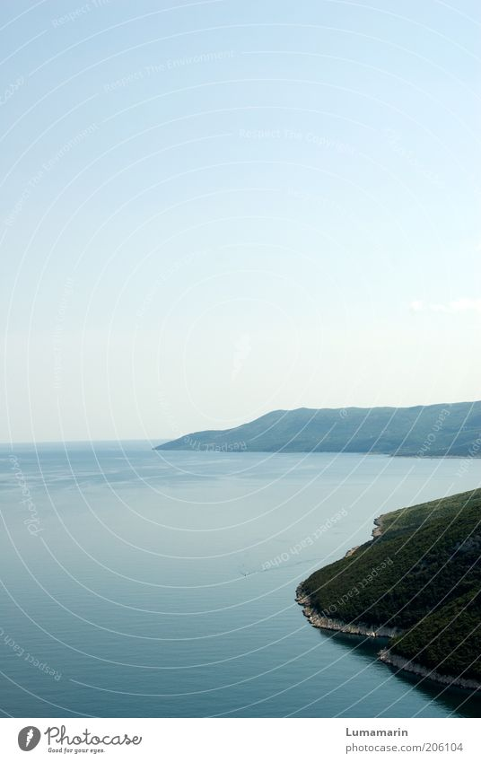 Küstenlinie Natur Wasser schön Sommer Meer ruhig Ferne Umwelt Landschaft Freiheit Küste Luft Horizont Stimmung Erde Klima