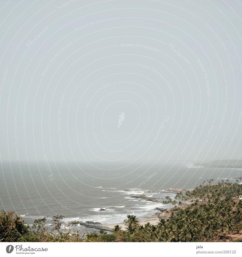 desert.sea.sky Ferne Freiheit Sommer Sommerurlaub Natur Landschaft Wasser Himmel Wellen Küste Meer Asien Indien Goa Unendlichkeit Farbfoto Gedeckte Farben