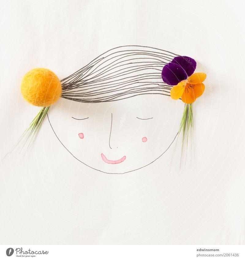Summer in the (h)air Natur Pflanze Sommer schön weiß Wärme Blüte feminin Glück orange hell Freizeit & Hobby Zufriedenheit träumen Dekoration & Verzierung