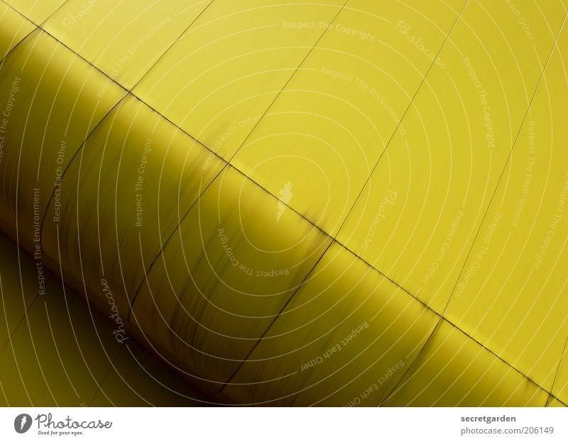 [H 10.1] der untergang der litauen. gelb Farbe Wand Mauer Gebäude Linie Architektur Design Fassade modern ästhetisch Zukunft rund Vergänglichkeit Stahl