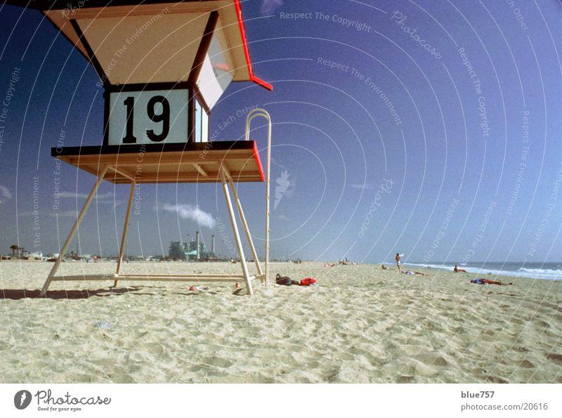 Nineteen 19 Strand Kalifornien Industriefotografie Himmel Architektur Ziffern & Zahlen numbers Wasser water Sand blau blue sky