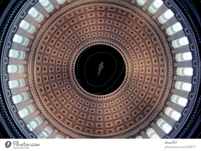 Capitol Kapitol Kuppeldach rund Froschperspektive Architektur Washington DC USA round sphere