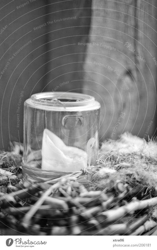 kerze Holz Stimmung Glas Kerze Dekoration & Verzierung Schwarzweißfoto Brandschutz Glaskolben