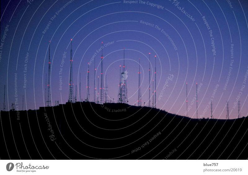 Antennenwald blau rot dunkel orange Technik & Technologie Antenne Arizona Elektrisches Gerät