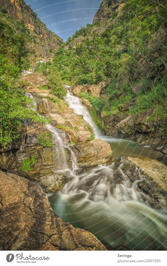 Ramboda Wasserfall in Sri Lanka Freizeit & Hobby Ferien & Urlaub & Reisen Ausflug Abenteuer Expedition wandern Umwelt Natur Landschaft Pflanze Tier Himmel
