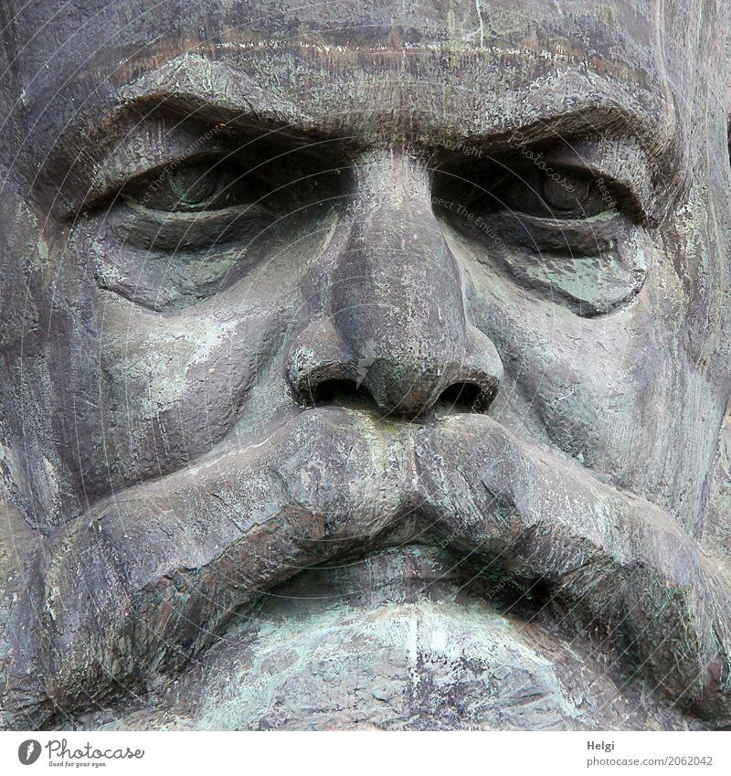 AST 10 | Gesichtskontrolle alt dunkel Kunst grau authentisch Kultur einzigartig Bauwerk Sehenswürdigkeit Denkmal Politik & Staat Chemnitz Philosoph Sozialismus