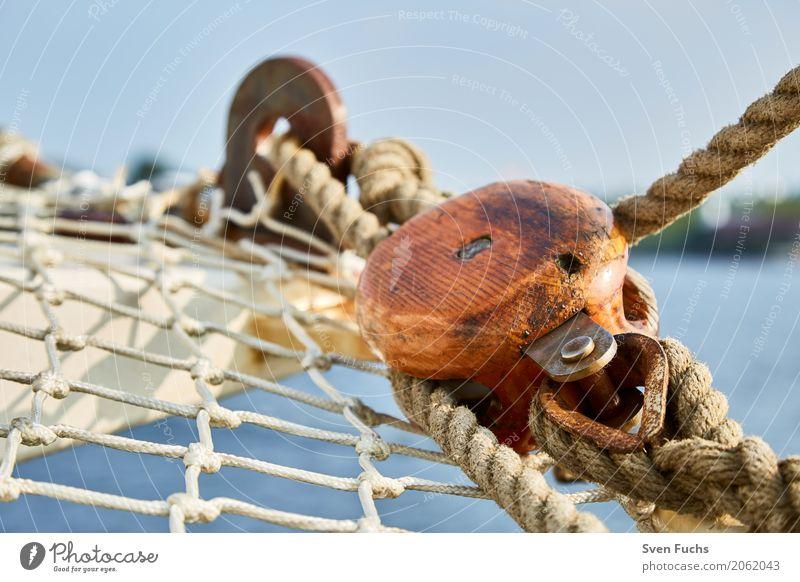 Netze und Taue an Bord Seil Hafen Schifffahrt Segelschiff Wasserfahrzeug Knoten maritim Wilhelmshaven Landkreis Friesland Ostfriesland Trosse leine Schiffsdeck