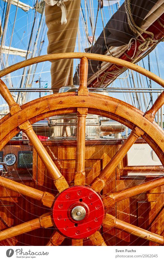 Steuerrad eines Segelschiffes Seil Hafen Schifffahrt Wasserfahrzeug Knoten maritim Abenteuer Wilhelmshaven Landkreis Friesland Ostfriesland Trosse leine