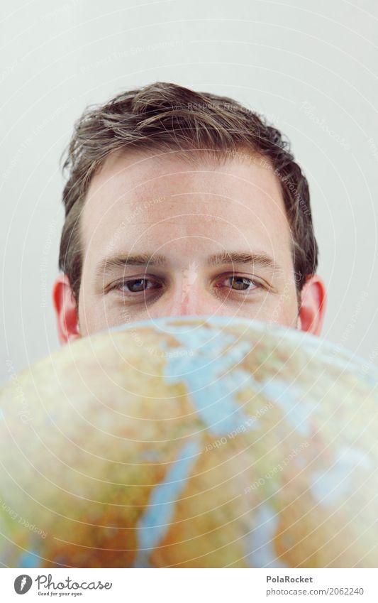 #AS# Überblick Kunst ästhetisch überblicken Blick Ferne Globus Erde Zukunft Futurismus Zukunftsorientiert Zukunftstraum Karriere Kontinente Farbfoto
