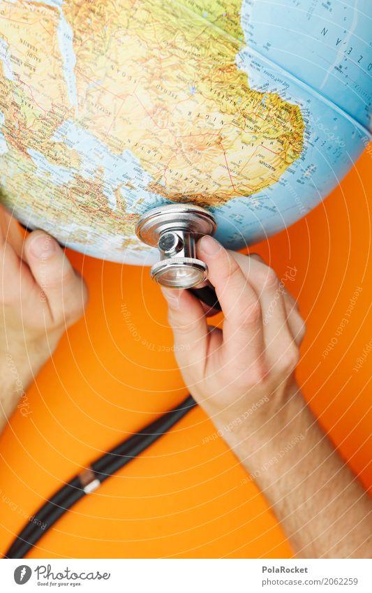 #AS# husten Sie mal Kunst Kunstwerk ästhetisch Planet Erde Klima Klimawandel Klimaschutz Klimaanlage Klimagipfel Klimazone orange hören untersuchen Arzt Hand