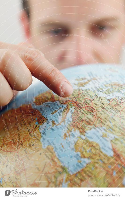 #AS# Urlaubsziel Ferien & Urlaub & Reisen Kunst Erde ästhetisch Europa Fernweh zeigen Globus Kunstwerk Planet Kontinente Zeigefinger Urlaubsfoto Urlaubsstimmung