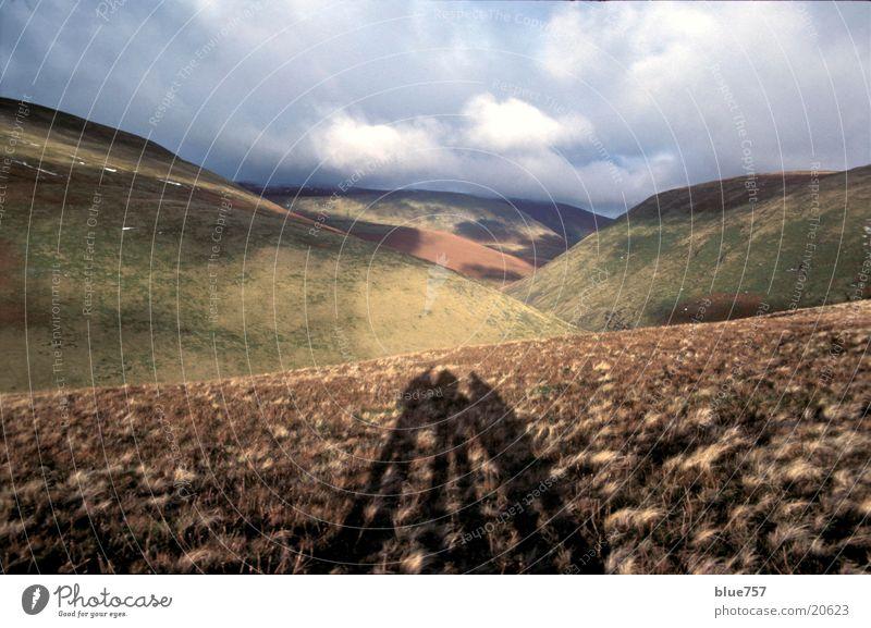 Wanderung wandern Heide Großbritannien Sonnenuntergang Abenddämmerung Schatten blakey ridge north york moors